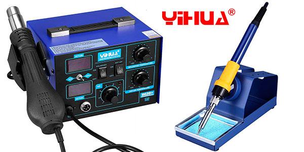 Estación Yihua 862D+ de soldadura electrónica 2 en 1 barata