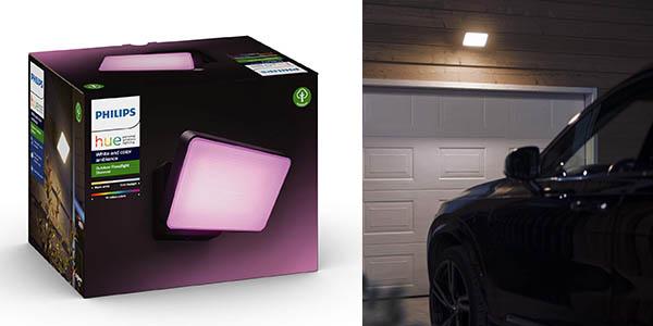 foco exterior de bajo consumo inteligente Philips Hue Discover chollo