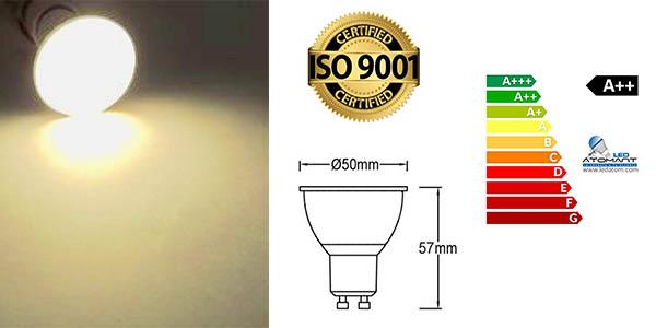focos Atomant LED Gu10 iluminación potente oferta