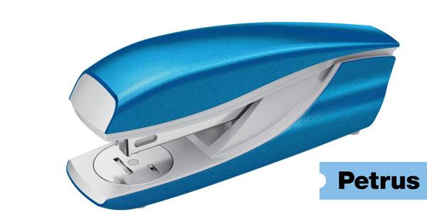 Grapadora Petrus Wow 635 azul metalizada barata en Amazon