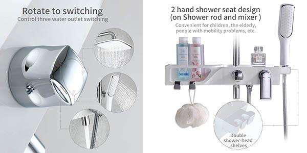 grifería de ducha con funciones Homelody con rociador oferta