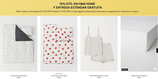 H&M Home textiles y menaje para el hogar rebajas