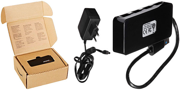 Hub AmazonBasics USB 3.0 de 4 puertos barato