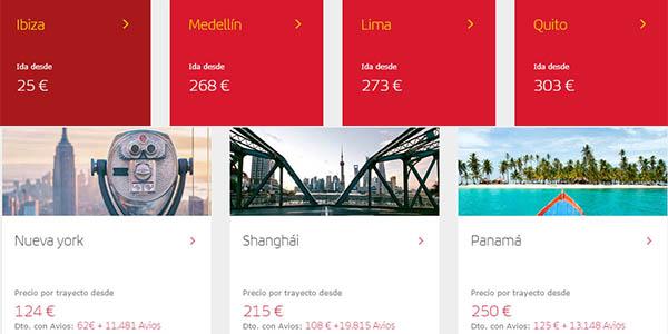 Iberia promoción vuelos otoño 2019