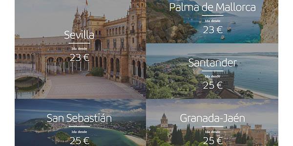 Ibiera vuelos en oferta por España y Europa Septiembre 2019