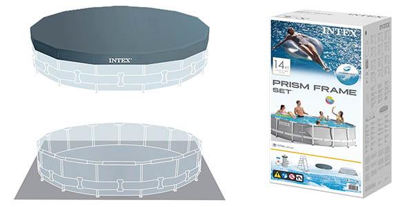 Intex Prisma Frame piscina con depuradora y escalera para jardín chollo