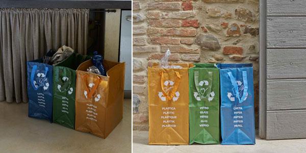 Juego de 3 bolsas para reciclaje de basura chollazo en Amazon