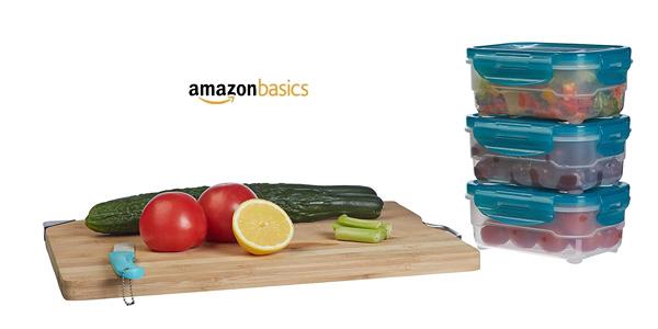 Set x3 Tuppers AmazonBasics de 0,6 L chollo en Amazon