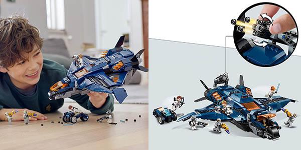 juego LEGO superhéroes Quinjet definitivo Vengadores chollo