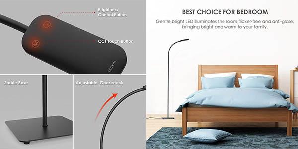lámpara Moderno de suelo con bombilla LED regulable chollo