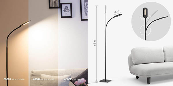 lámpara de pie Moderno con cupón descuento Amazon
