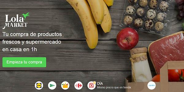 Lola Markt compra de supermercados online cupón descuento
