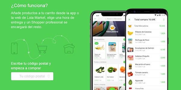 Lola Markt productos de supermercado online compra con cupón descuento