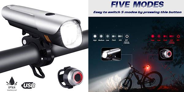luces para bicicleta Ouspt baratas