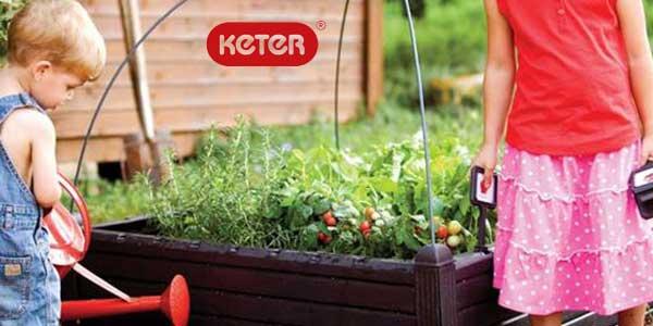 Mini huerto en casa Keter Raised Garden Bed con marcadores chollazo en Amazon