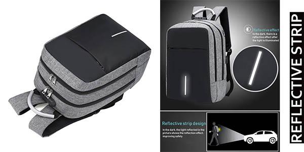 mochila de viaje con candado RJEU y cupón descuento Amazon