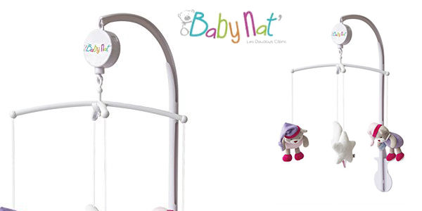 Móvil Baby Nat Rosemusical luminoso barato en Amazon