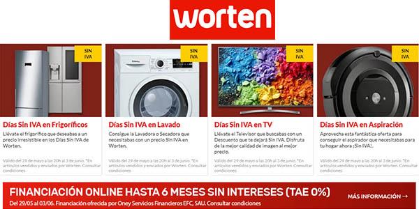 ofertas en el Día sin IVA en Worten en aspiración y electrodomésticos