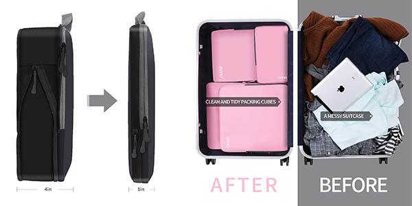 organizadores de maletas expandibles Eono Essentials chollo