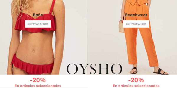 Oysho promoción ropa de baño verano 2019