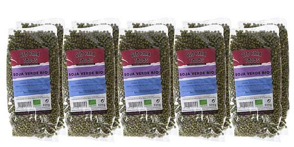 Pack x10 Envases Soja Verde Mungo Bio para todos de 500 gr/ud barato en Amazon