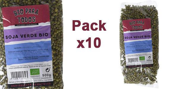 Pack x10 Envases Soja Verde Mungo Bio para todos de 500 gr/ud chollo en Amazon