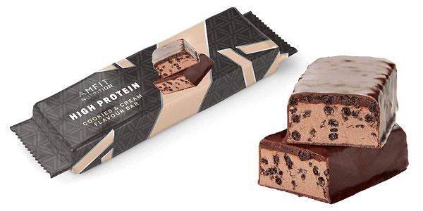 Pack de 12 Barritas de proteínas Amazon- Amfit Nutrition sabor Cookies & Cream x60 gr/ud chollo en Amazon