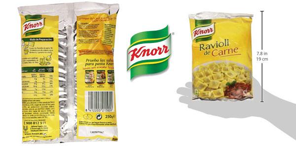 Pack de 12 Knorr Ravioli de carne de 250gr chollo en Amazon