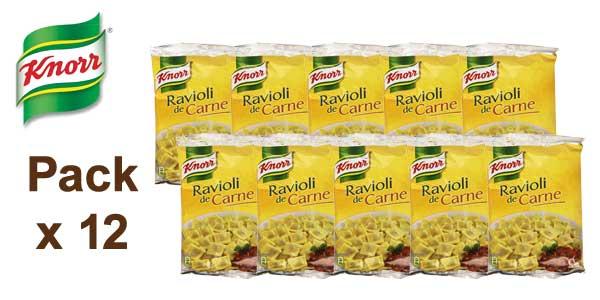 Pack de 12 Knorr Ravioli de carne de 250g barato en Amazon