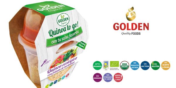 Pack x15 Golden Organic Quinoa To Go Ecológica con fritada de hortalizas 205 gr chollo en Amazon