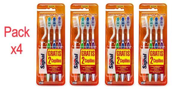 Signal Pack x4 Cepillos de dientes de 4 unidades (Total: 16 cepillos) barato en Amazon
