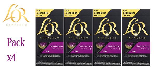 Pack x4 Paquetes de 10 cápsulas L'OR Espresso Sontuoso barato en Amazon