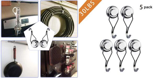 Set 5 Ganchos Magnéticos Wukong baratos en Amazon