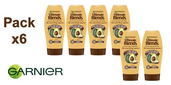 Pack x6 Acondicionador Garnier Original Remedies Aceite Aguacate y Manteca de Karite 400 ml/ud barato en Amazon