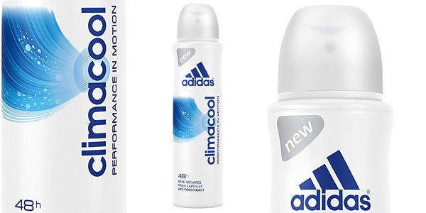 Pack x6 desodorante Adidas Climacool anti-transpirante 48h Spray 150 ml para mujer chollo en Amazon