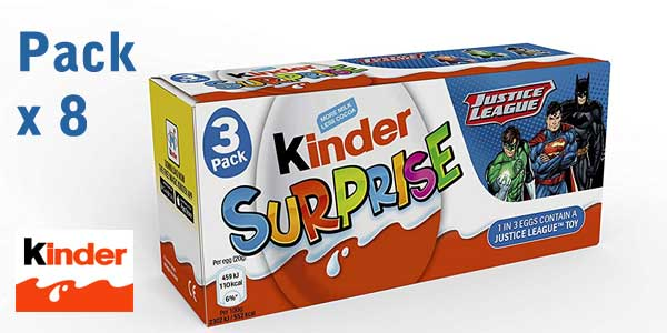 Pack 8 Paquetes x3 Kinder Huevo Sorpresa de 20 gr/ud barato en Amazon