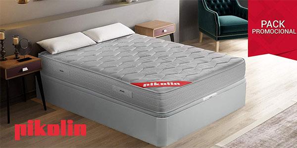 Pack Pikolin colchón viscoelástico espuma HR + canapé abatible + 2 almohadas visco barato en Amazon