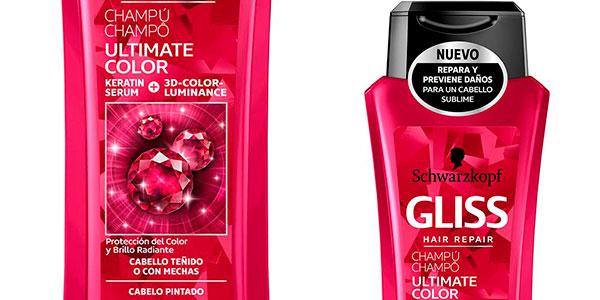 Pack x3 Champú Schwarzkopf Gliss Ultimate Color para cabello teñido (250 ml) barato