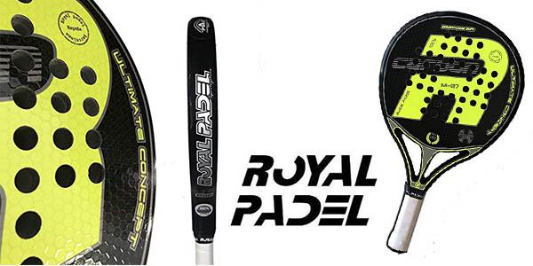 pala de pádel Royal Padel M27 Carbon Amarilla 2019 barata