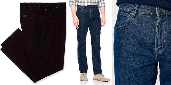 Pantalones vaqueros Wrangler Regular Fit para hombre en oferta