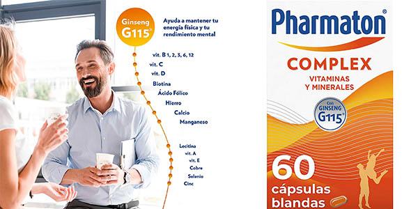 Pharmaton Complex Ginseng cápsulas de vitaminas energía chollo