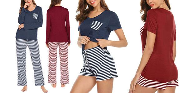 Pijama de verano de 2 piezas Lomon para mujer barato en Amazon