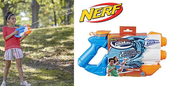 pistola de agua Nerf Supersoaker Twin Tide barata