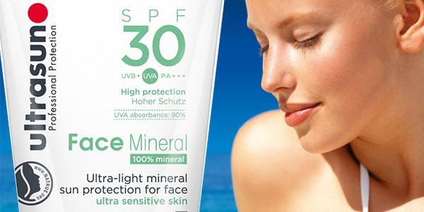Protector solar rostro ultrasun Face Mineral SPF 30 de 40 ml para piel ultra sensible barato en Amazon