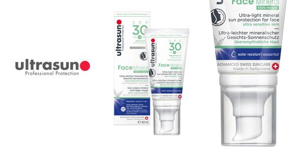 Protector solar rostro ultrasun Face Mineral SPF 30 de 40 ml para piel ultra sensible chollo en Amazon