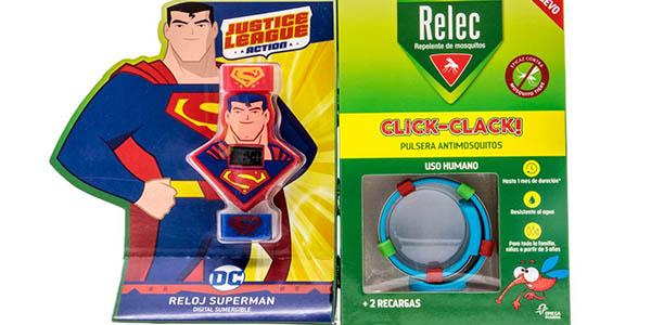 pulsera repelente de mosquitos para niñ@s Relec Superman chollo
