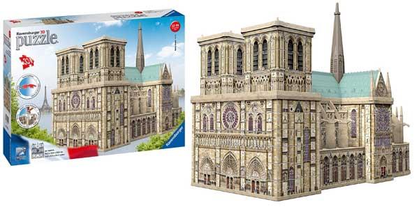 Puzzle Ravensburger 3D Notre Dame Paris barato en Amazon