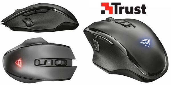 Ratón gaming Trust GXT 140 Manx inalámbrico con batería recargable en oferta