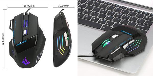 Ratón gaming USB con teclas programables y DPI ajustables en oferta en Amazon