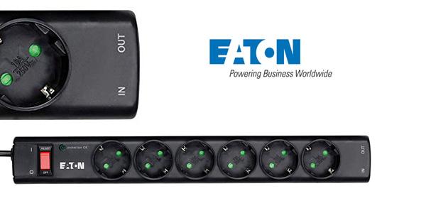 Regleta de 6 tomas Eaton/Protection Strip 6 DIN con protección contra picos de tensión chollazo en Amazon